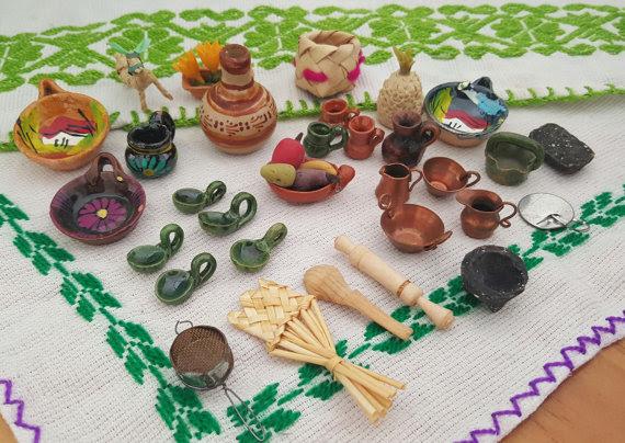 Colección de miniaturas mexicanas. Foto: www.etsy.com/mx