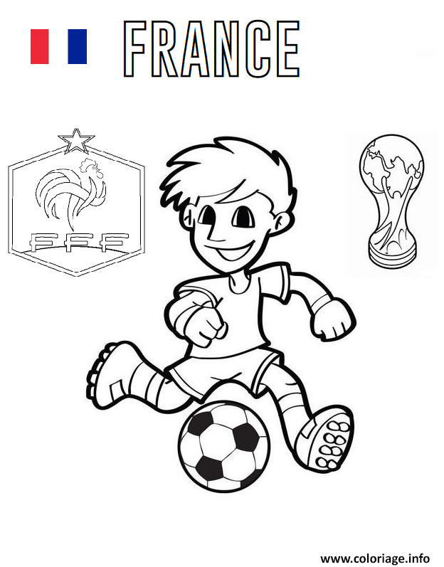 Coloriage France Football Coupe Du Monde 2018 Jecoloriecom