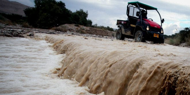 Illustrative: Floods following a few days of heavy rain, in Nahal Og, a stream which runs from near Jerusalem to the Dead Sea, November 27, 2014. (Photo: Yossi Zamir/Flash90)
