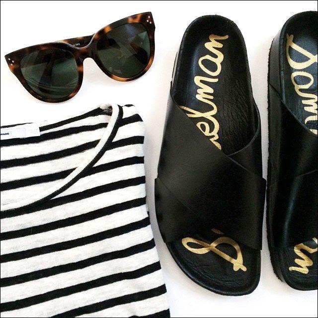 1 Le Fashion Blog Instagram Celine Sunglasses Alexander Wang Striped Tee Sam Edelman Adora Sandals photo 1-Le-Fashion-Blog-Instagram-Celine-Sunglasses-Alexander-Wang-Striped-Tee-Sam-Edelman-Adora-Sandals.jpg