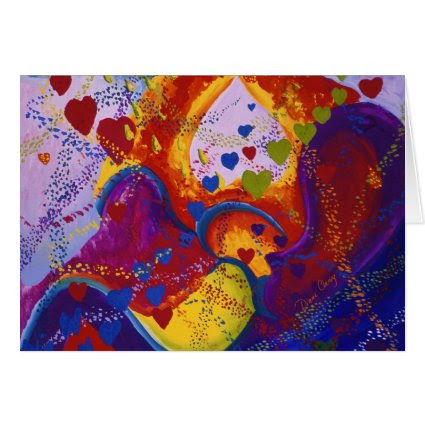 The Power of Love, Underground, Hearts, Abstract Greeting Card
