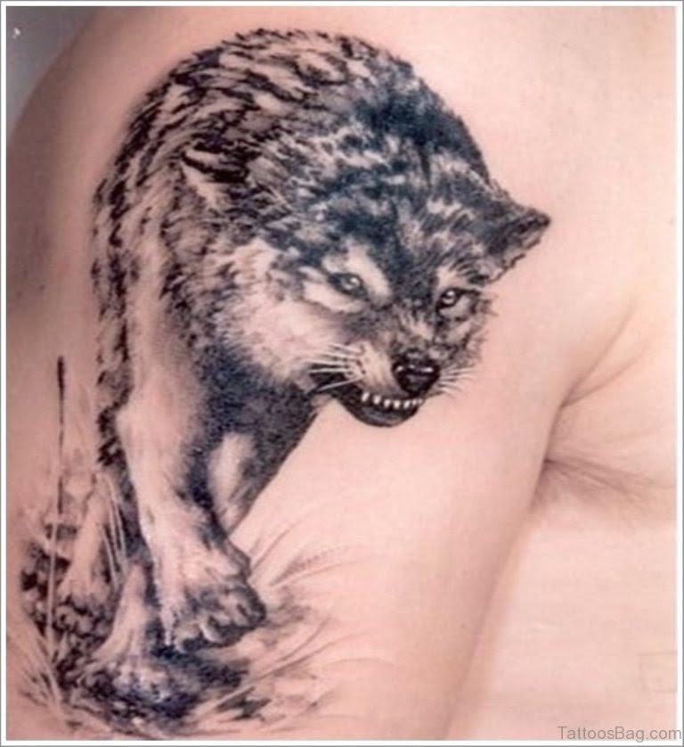 51 Elegant Wolf Tattoos On Shoulder
