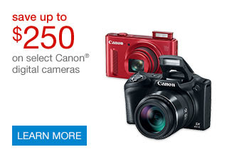 Save up to $250 on select Canon® cameras | SHOP NOW