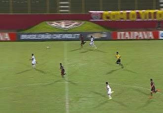 frame Vitória x Oeste (Foto: Reprodução/TV Bahia)