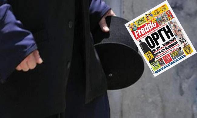 Πρωτοσέλιδο στην εφημερίδα Freddo ο παπάς του Μαυρουδίου Ηγουμενίτσας