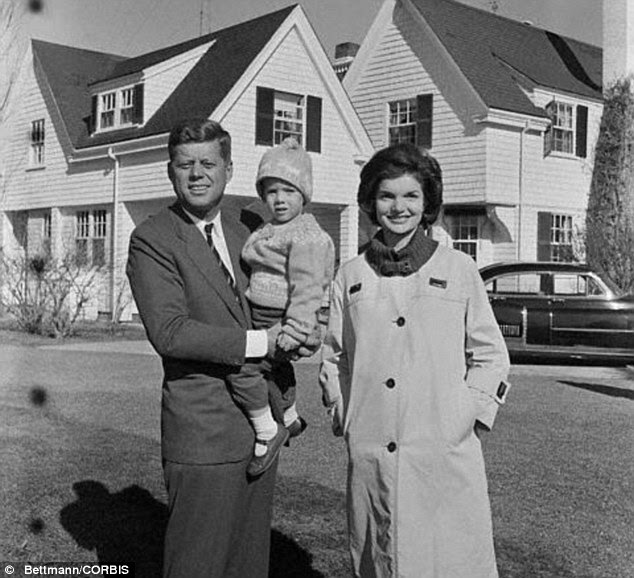 John and Jackie Kennedy with daughter Caroline, who allowed the tapes to be released to ABC in return for their cancelling of the mini series about the family