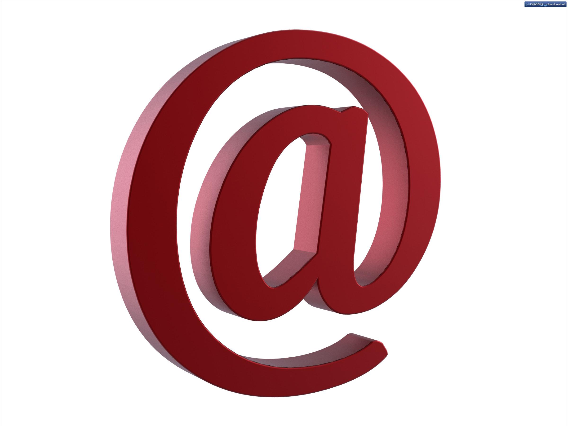 Email at symbol | PSDGraphics