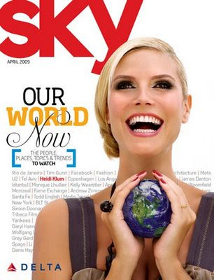 Heidi Klum Sky Magazine by Victoria´s Secret Show