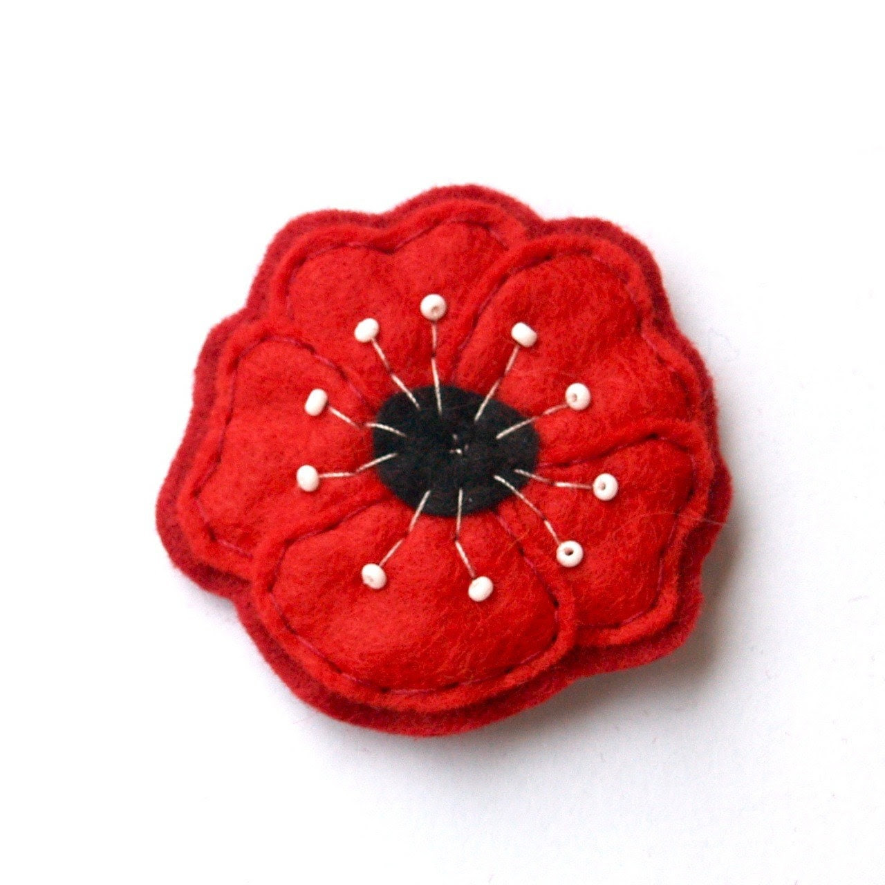 Poppy Felt Brooch
