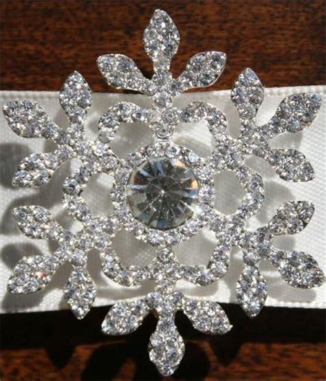 Rhinestone Snowflake Buckle   #DIY w/ Rhinestone Buckles