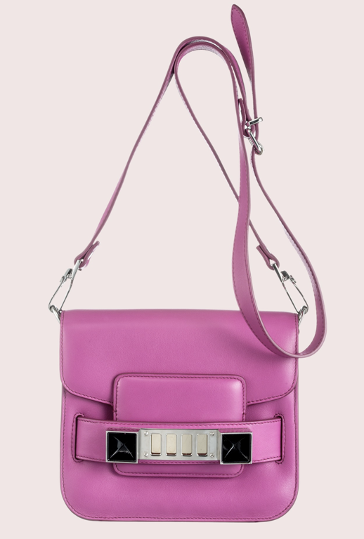 LE FASHION BLOG NEW PROENZA SCHOULER BAG SMALLER PS11 TINY CROSS BODY BAG FUCSHIA BRIGHT PINK photo LEFASHIONBLOGNEWPROENZASCHOULERBAGSMALLERPS11TINYCROSSBODYBAGFUCSHIABRIGHTPINK.png