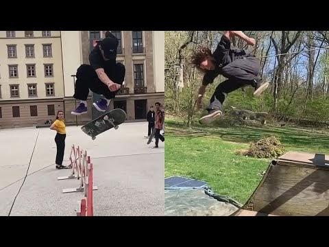 Beautiful Tricks (Skateboarding Fun, Late Tricks, Wins) - #VideoBreaks