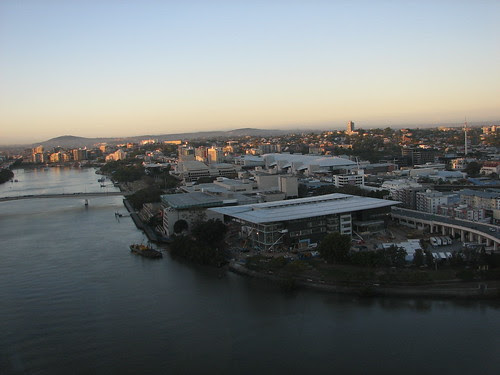 View  of Brisbane's Southbank from the Oaks Hotel