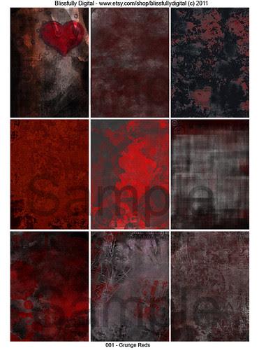 Grunge 001 Reds by Blissful Pumpkin
