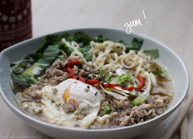 Ground Pork Ramen// Loves Food, Loves to Eat