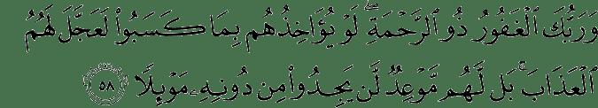 Al-Kahfi 18:58