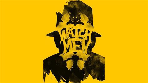 Watchmen rorschach yellow background wallpaper   (81870)