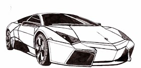 Sketsa Mobil Lamborgini