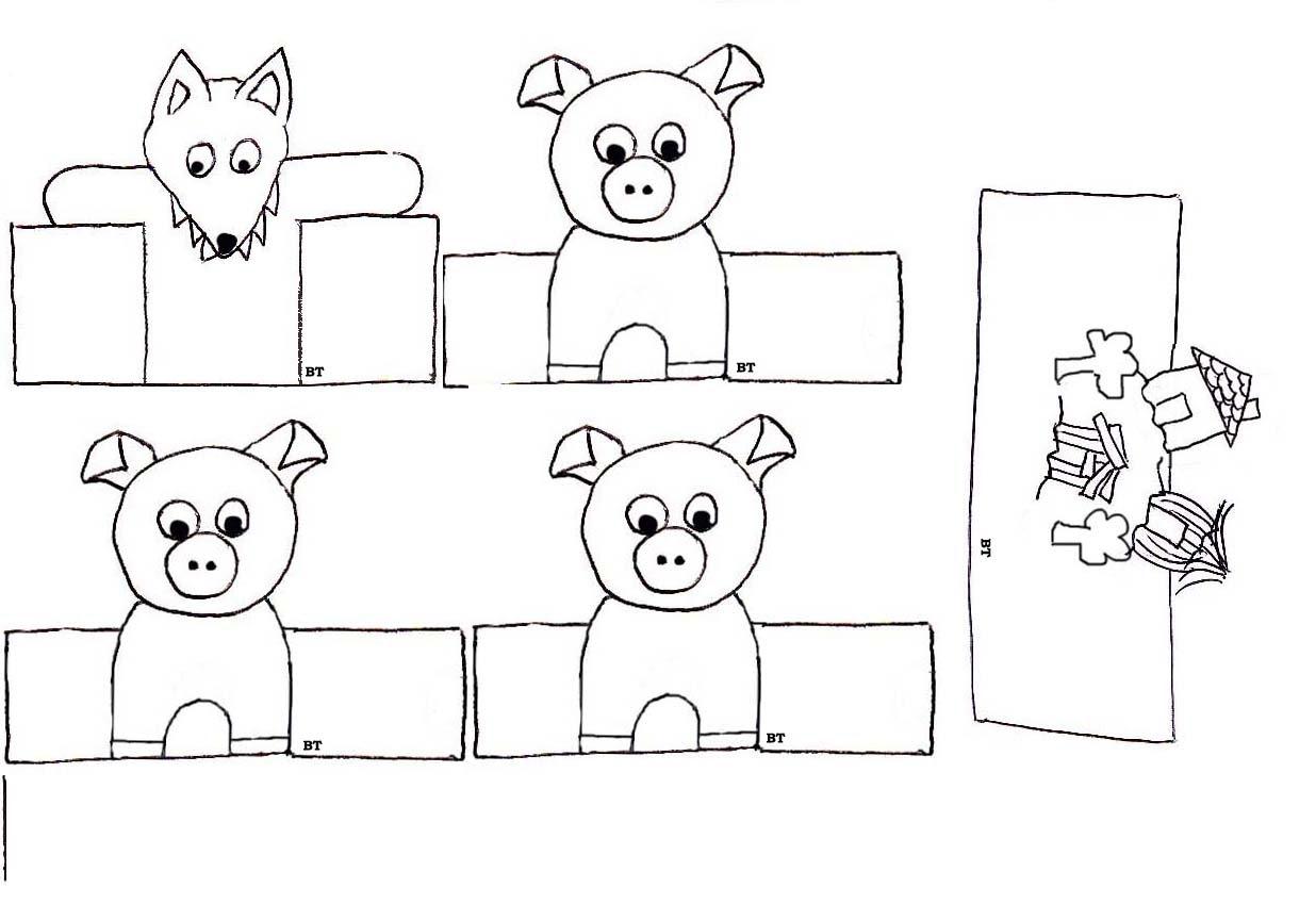 Marionnettes  doigts de papier Marionnettes  doigts de papier