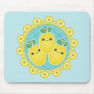 Fresh Bunch Of Lemons Kawaii Mousepad mousepad