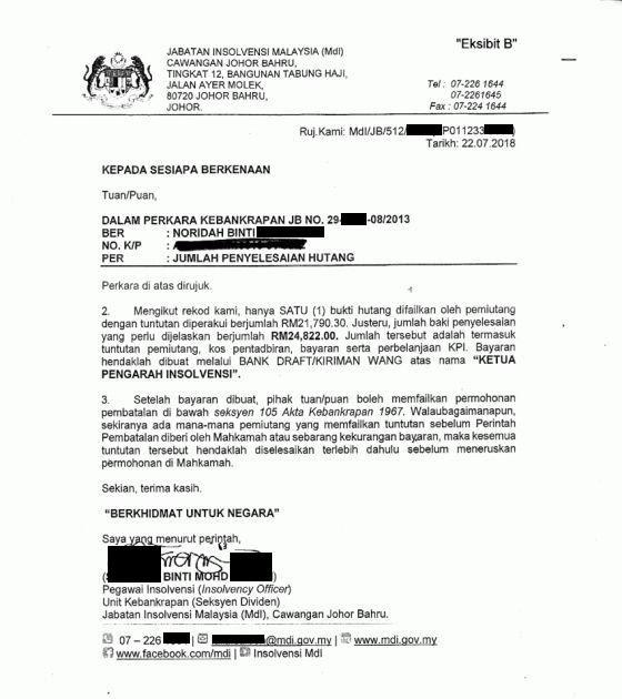 Surat Rayuan Insolvensi Smartfren M