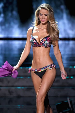 Olivia Jordan, Miss Estados Unidos, no Miss Universo em Las Vegas, nos Estados Unidos (Foto: Ethan Miller/ Getty Images/ AFP)