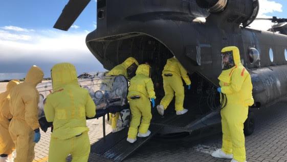 Los helicópteros Chinook, listos para actuar en crisis de ébola y similares