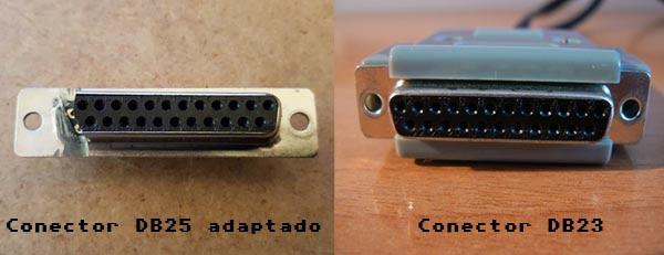 Conector DB25 Adaptado para DB23