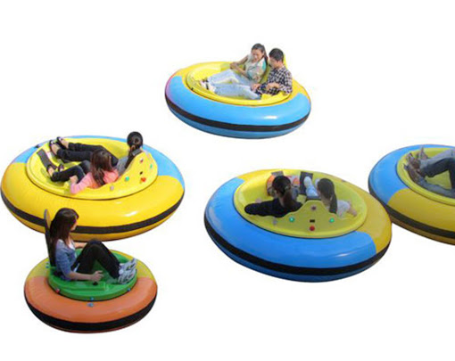Inflatable bumper cars with inflatable materials