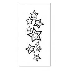 Штамп.  Звезды фоновый. Размер 5,2*2см