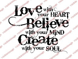 Visible Image create with your soul stamp x