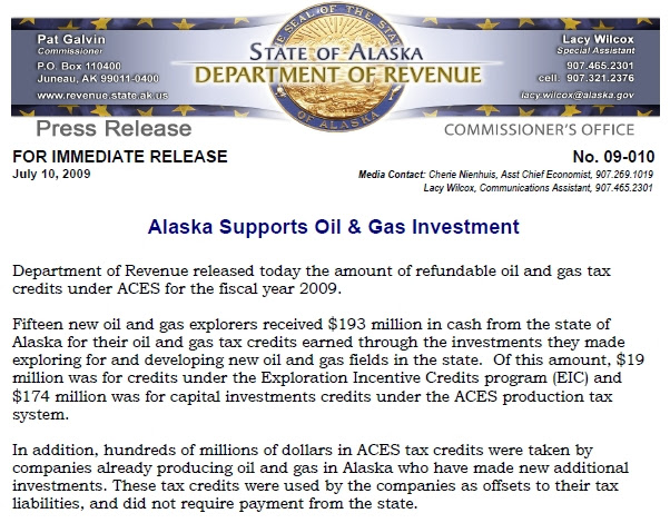 soa oil tax credits