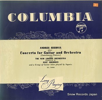 SEGOVIA, ANDRES concerto for guitar and orchestra