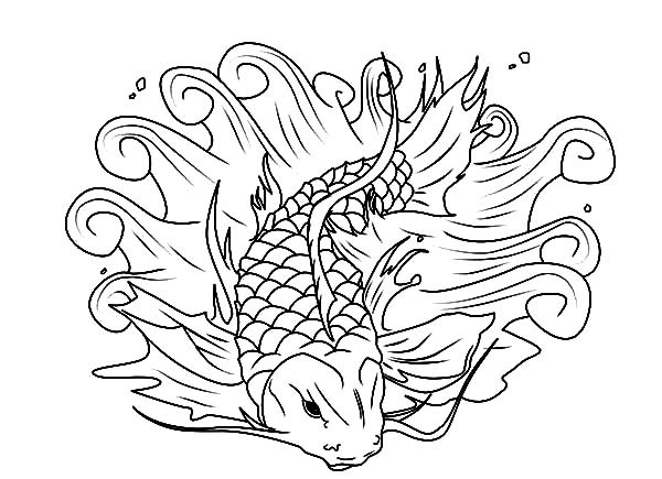 Beautiful Koi Fish Coloring Pages  Download \u0026 Print Online Coloring Pages for Free  Color Nimbus