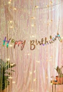 Ginger Ray Iridescent Foil Happy Birthday Banner   Urban