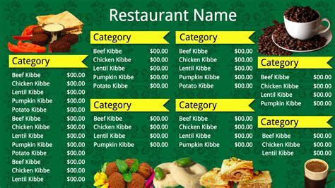 Fast Food Restaurant Menu Templates, indian fast food