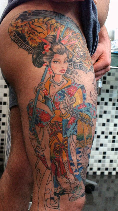 geisha girl tattoo flash