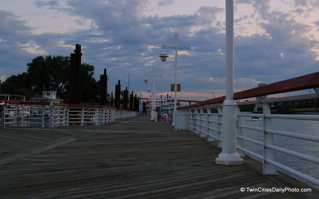 The peer is a hidden treasure at Harriot Island, across from downtown St Paul. One can find lots of boats of all sizes, friendly faces, place to watch sunsets, a place for romantic walks, a restaurant and a bed and breakfast.