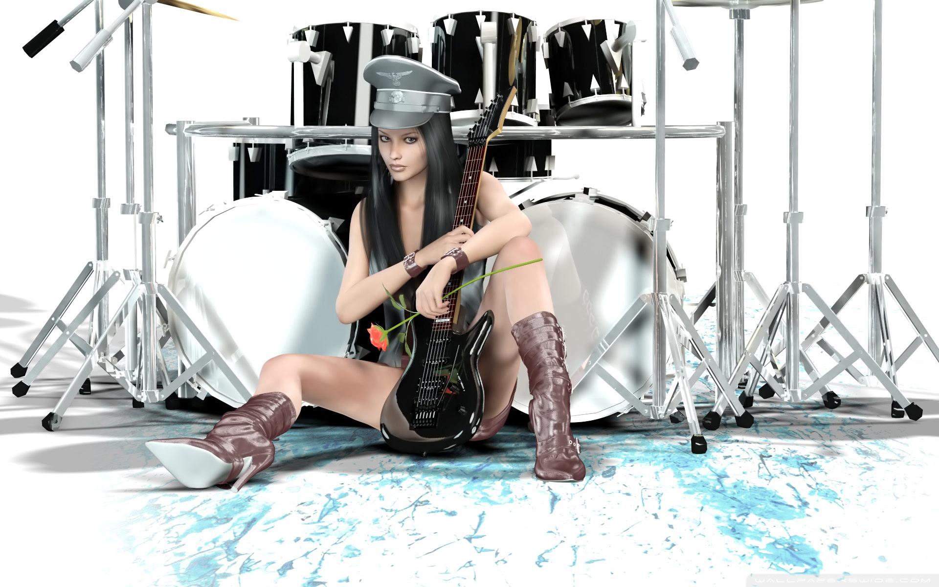 Sexy Guitarist Ultra Hd Desktop Background Wallpaper For 4k Uhd Tv