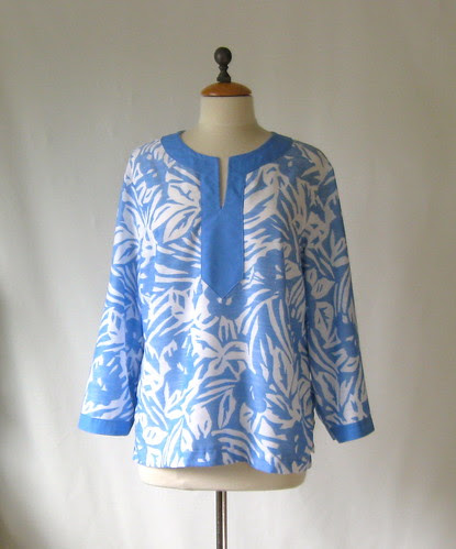 blue tunic front view