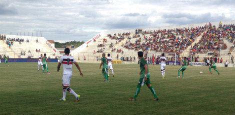 Tricolor não consegue reagir depois de levar um gol do Carcará / FPF/Divulgação
