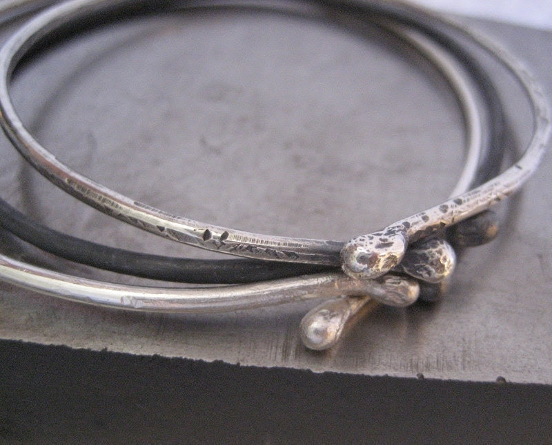 TRE Sterling Silver Bangle Bracelets - VictoriaTeague