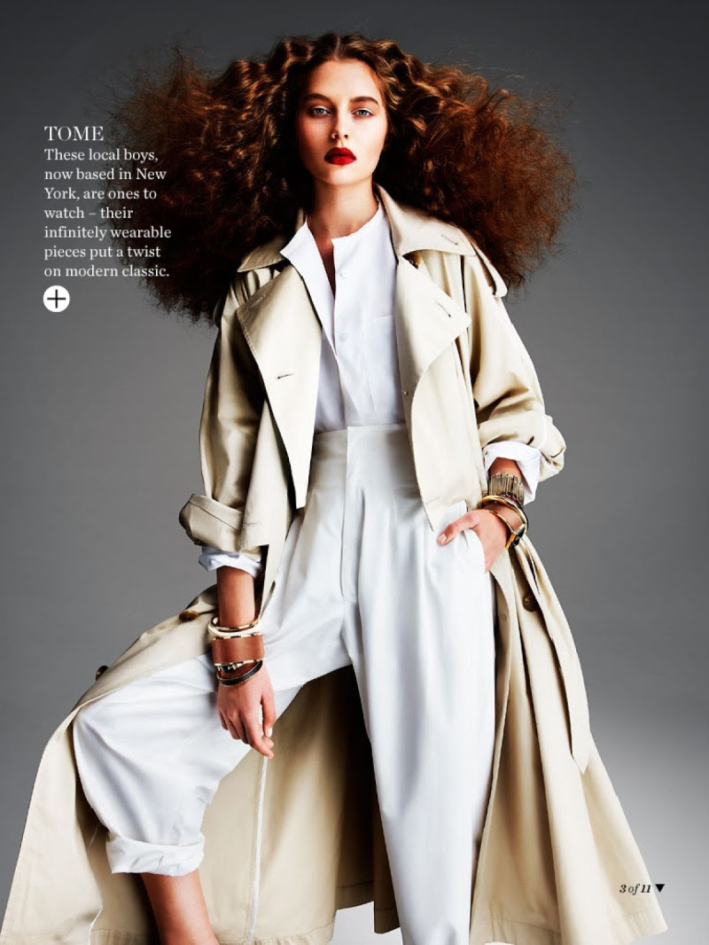 """""""Native Blooms"""" by Troyt Coburn for Marie Claire Australia March 2014"""