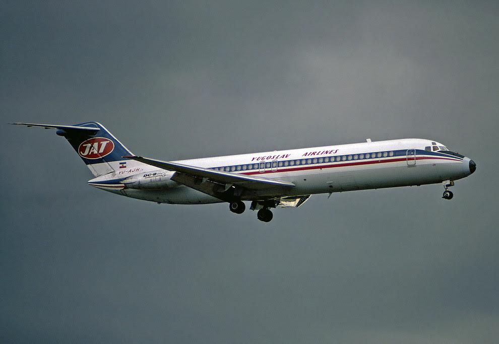 DC-9-32 авіакомпанії JAT, ідентичний вибухнув