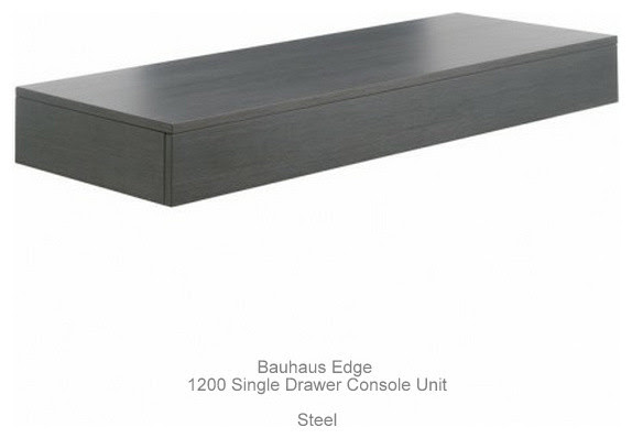 Bauhaus Edge Single Drawer Console Units - contemporary - bathroom ...
