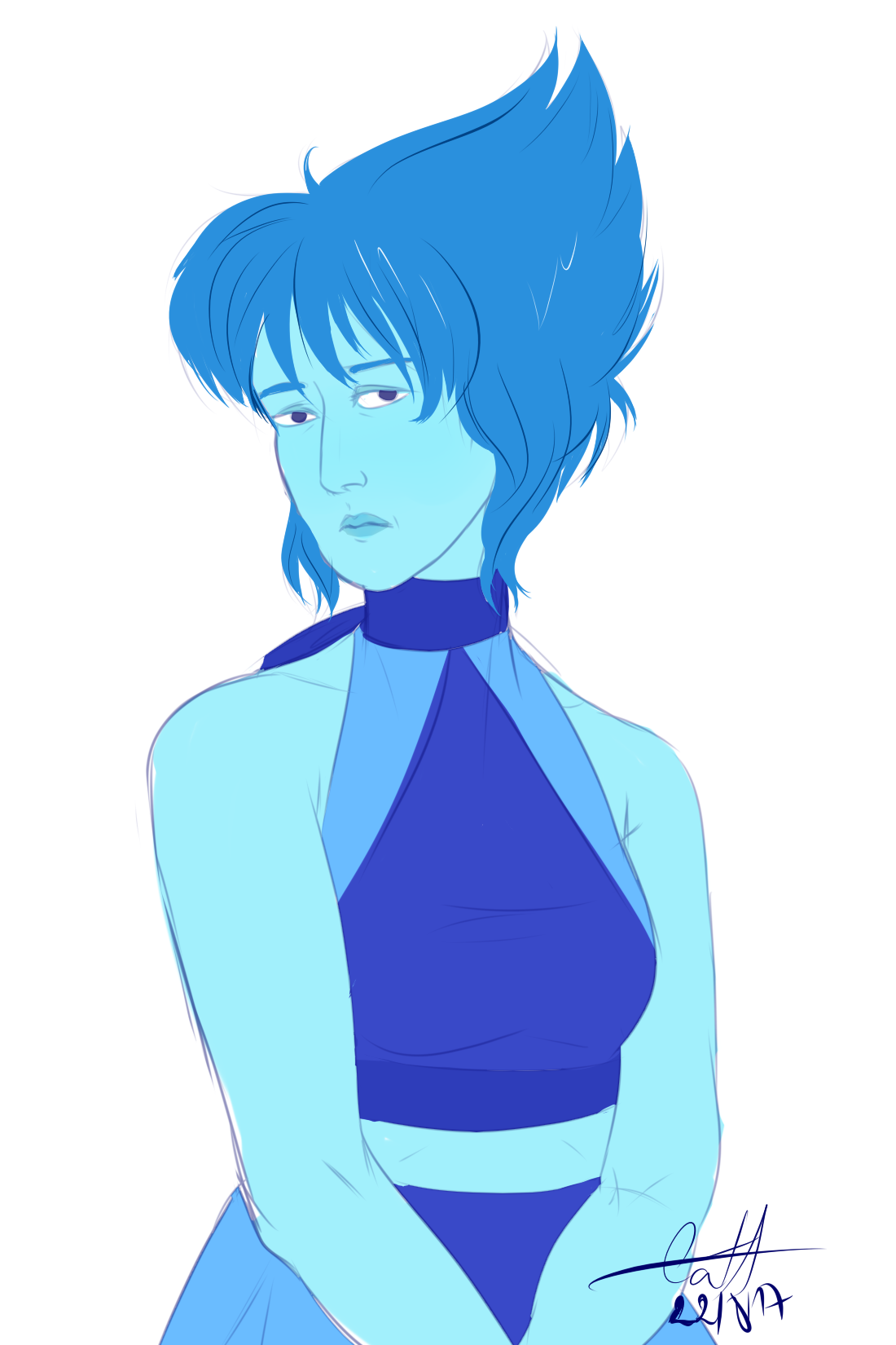 a very quick and very grumpy Lazuli sketch