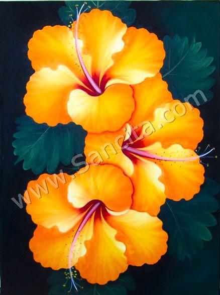 Sketsa Bunga Contoh Lukisan Bunga