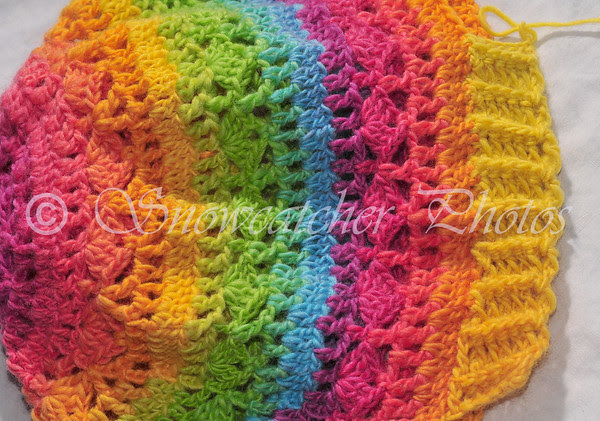 crocheted rib edging