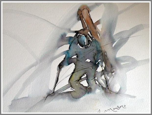 esquiador caminando