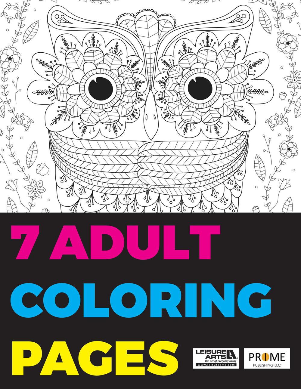 7 Adult Coloring Pages free eBook | FaveCrafts.com